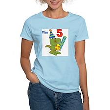 Little Dino 5th Birthday T-Shirt