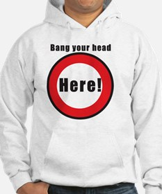 11x11_pillow bang your head Hoodie
