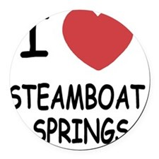 STEAMBOAT_SPRINGS Round Car Magnet