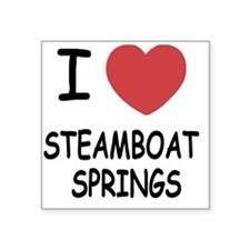 """STEAMBOAT_SPRINGS Square Sticker 3"""" x 3"""""""