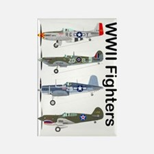 WWIIFighters_Front Rectangle Magnet