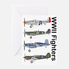 WWIIFighters_Front Greeting Card