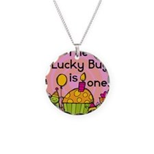 Lucky Bug 1st Birthday Necklace Circle Charm