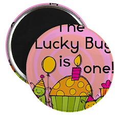 Lucky Bug 1st Birthday Magnet