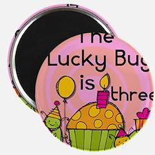 Lucky Bug 3rd Birthday Magnet