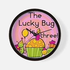 Lucky Bug 3rd Birthday Wall Clock