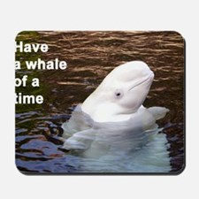 Whale card Mousepad