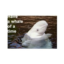 Whale card Rectangle Magnet