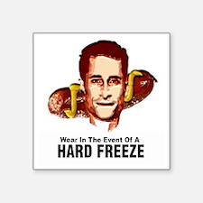 "HardFreezeWarning12x12 Square Sticker 3"" x 3"""