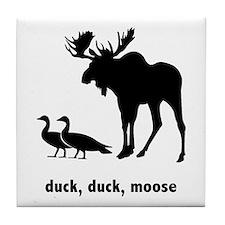 FIN-duck-duck-moose-200px Tile Coaster