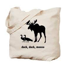 FIN-duck-duck-moose-200px Tote Bag
