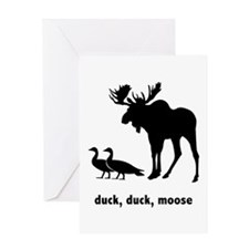 FIN-duck-duck-moose-200px Greeting Card