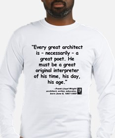 Wright Poet Quote Long Sleeve T-Shirt