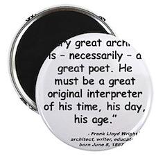 Wright Poet Quote Magnet