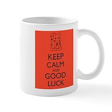 Maneki Neko Lucky Cat Keep Calm and Good Luck Mugs