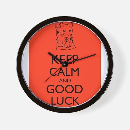 Maneki Neko Lucky Cat Keep Calm and Good Luck Wall