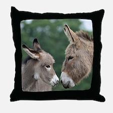 Donkey clock Throw Pillow