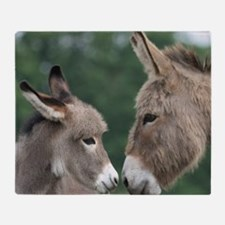 Donkey clock Throw Blanket