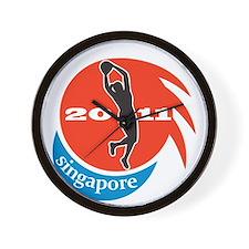 Netball player Singapore 2011 Wall Clock