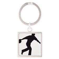 Bowling Square Keychain
