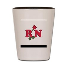 RN Nurse Rose Shot Glass