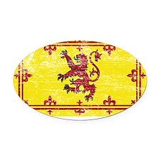 Scotland Lion Rampant Oval Car Magnet