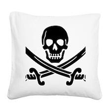 Calico Jacks Pirate Logo Square Canvas Pillow