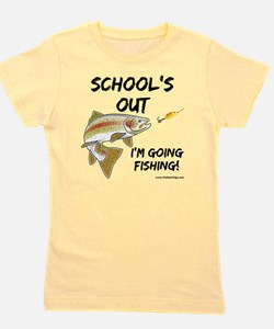schools out trout 1 Girl's Tee