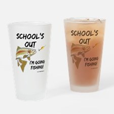 schools out trout 1 Drinking Glass