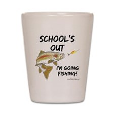 schools out trout 1 Shot Glass