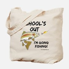 schools out trout 1 Tote Bag