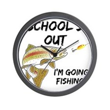 schools out trout 1 Wall Clock