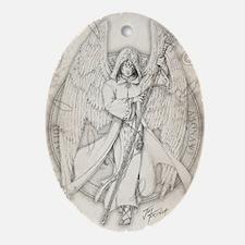 Archangel Raphael Oval Ornament