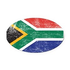 South Africa Oval Car Magnet
