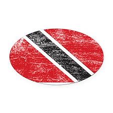 Trinidad  Tobago Oval Car Magnet