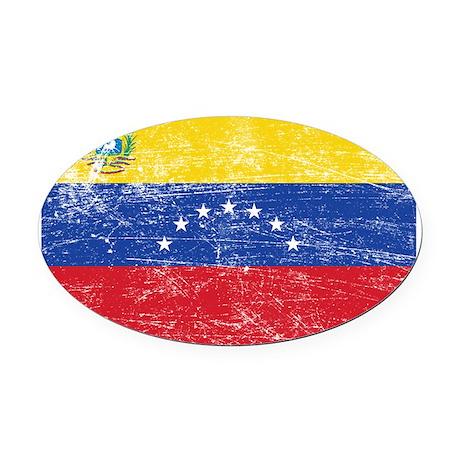 Venezuela Oval Car Magnet