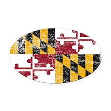 Maryland Oval Car Magnet