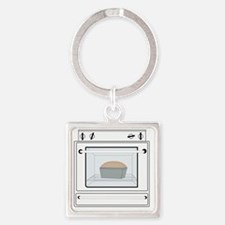 bun-in-the-oven Square Keychain