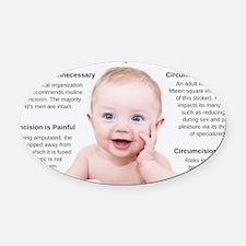 leaflet_front Oval Car Magnet
