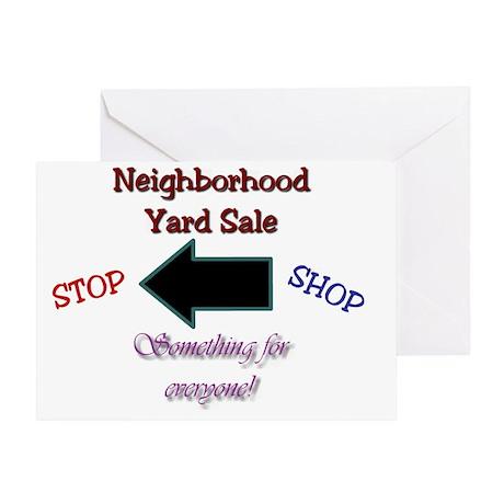 yard sale Greeting Card