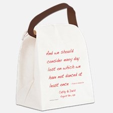 Nietzsche1customdark Canvas Lunch Bag