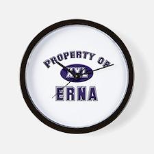 Property of erna Wall Clock