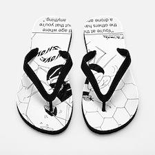 6888_bee_cartoon Flip Flops