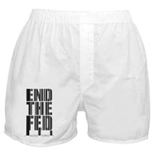 End The Fed Barcode Boxer Shorts