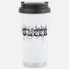 queer black text Stainless Steel Travel Mug