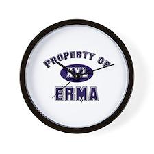 Property of erma Wall Clock