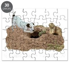 JACK RUSSELL AND PRAIRIE DOG dark shirts Puzzle
