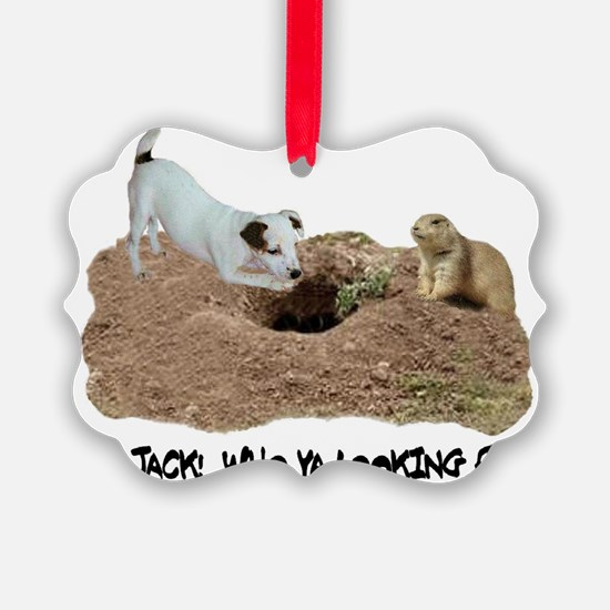 JACK RUSSELL AND PRAIRIE DOG Ornament