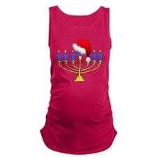 Christmas Menorah Maternity Tank Top