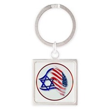 Stand With Isreal Circle Trans- Square Keychain